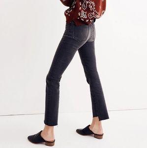 Madewell Jeans - Madewell Cali demi boot black wash jeans sz 25